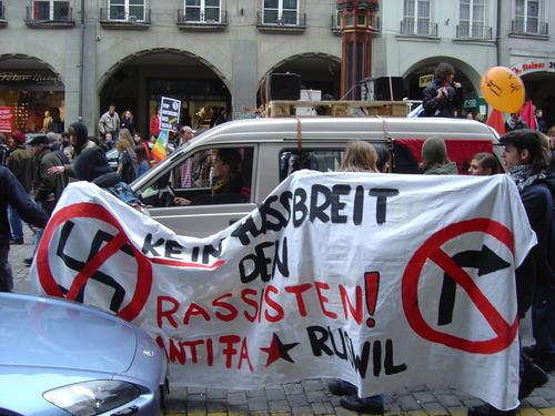 no right turn; no fascism